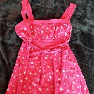 Streetwear Society Pink Baby Doll Stars Top